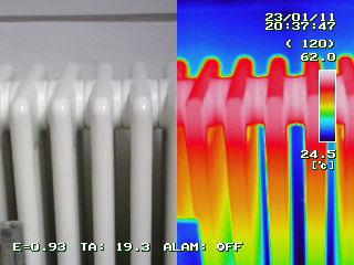 Technik-Wärmebild (Thermografieaufnahme)