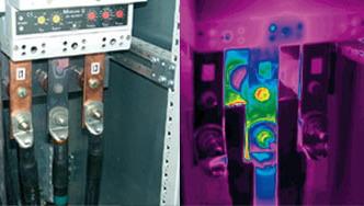 Wärmebildaufnahme über einen Schaltkasten