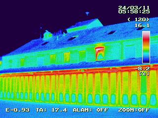 Thermografie für ein Feuerwehrhaus